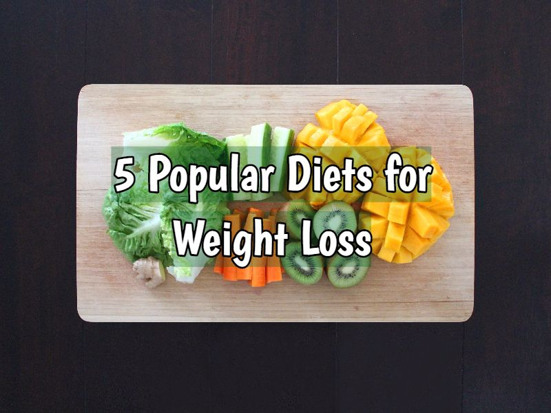 Popular diets for weight loss