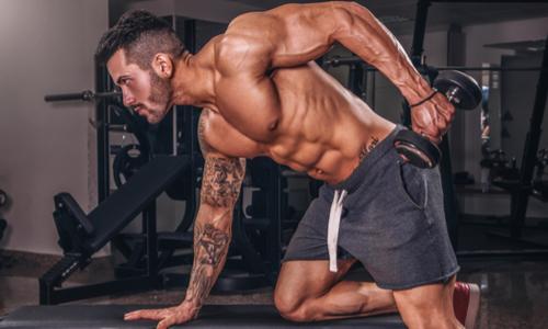 man doing gym